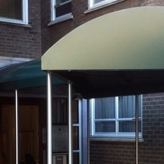 Aluminium Entrance Canopy With Stainless Poles