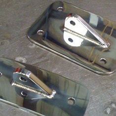 Marine Brackets In Polished 316 Stainless